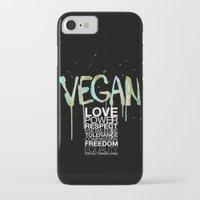 vegan iPhone & iPod Cases featuring VEGAN by Elisaveta Stoilova