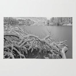 Wintry Lake Bohinj Rug