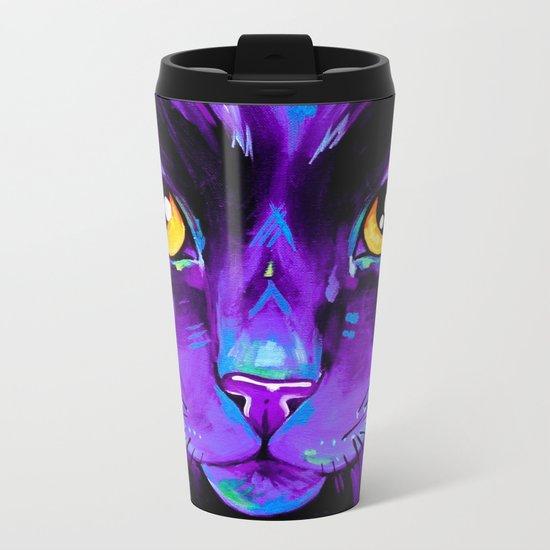 Cats in Colour 2 Purple version Metal Travel Mug