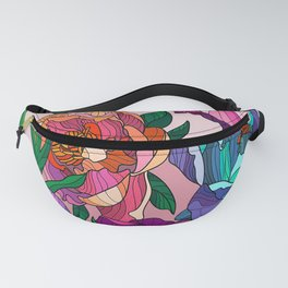 Floral Lines 1 Fanny Pack