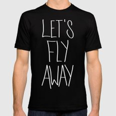 Let's Fly Away (come on, darling) Black Mens Fitted Tee LARGE