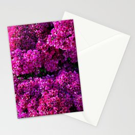 flwers in lilla Stationery Cards