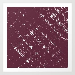 Deep Burgandy Cross-stitch Art Print