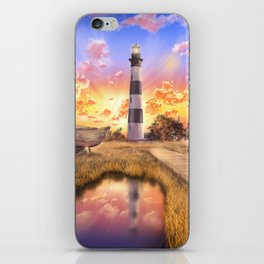 lighthouse landscape sky iPhone Skin