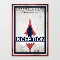 inception Canvas Prints featuring Inception by Anton Lundin