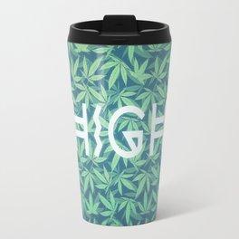 HIGH TYPO! Cannabis / Hemp / 420 / Marijuana  - Pattern Travel Mug