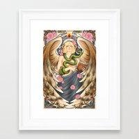 good omens Framed Art Prints featuring Good Omens - Garden of Eden by sepherene