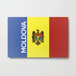 flag of Moldova Metal Print