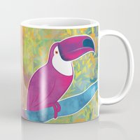 toucan Mugs featuring Toucan by Eliana Bertola