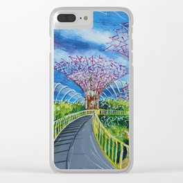 Super Supertrees Clear iPhone Case