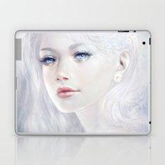 Ethereal - White as ice beatiful girl portrait Laptop & iPad Skin