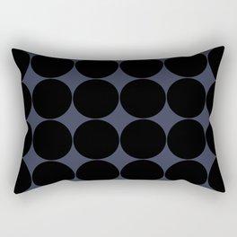 Circular Minimalism - Midnight Rectangular Pillow