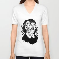 agnes V-neck T-shirts featuring Europa, Agnes and Phyllis by Anna Lisa Illustration