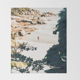 Solo Traveler || #illustration #travel Throw Blanket