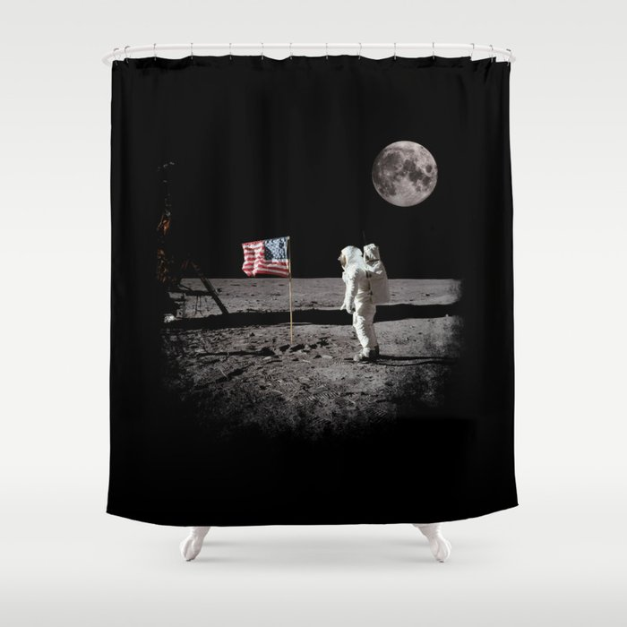 The Great Conspiracy: The Moon Is a Lie Shower Curtain
