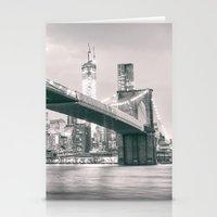 brooklyn bridge Stationery Cards featuring Brooklyn Bridge  by Vivienne Gucwa