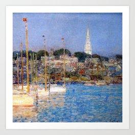 Newport Harbor, Newport, Rhode Island - Cat Boats by Frederick Childe Hassam Art Print