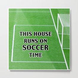 Soccer Time Metal Print