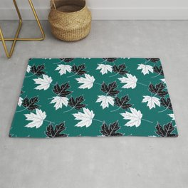 Maple Leaf (Silver Calico) - Spearmint Rug