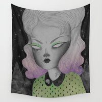 outer space Wall Tapestries featuring Ghoul from Outer Space by lOll3
