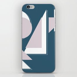 Geometric Shapes Abstract iPhone Skin