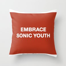 Embrace Sonic Youth Throw Pillow