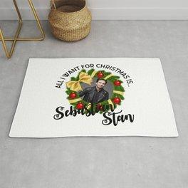 All I  want for Christmas is Sebastian Stan Rug