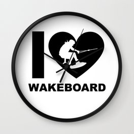 Wakeboarding waterskiing Wall Clock
