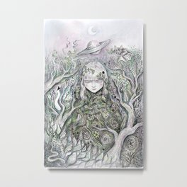 Mother Earth was a child once Metal Print