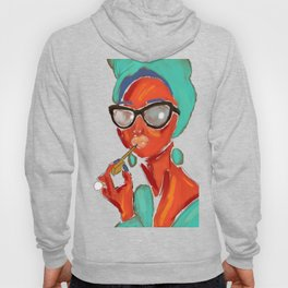 Lipstick Lady #OilPainting #ArtNouveauStyle Hoody