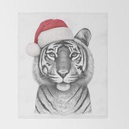 Christmas Tigress Throw Blanket