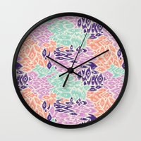 leopard Wall Clocks featuring Leopard by moniquilla