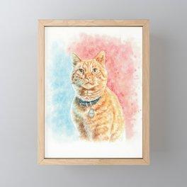 Goose The Cat Framed Mini Art Print