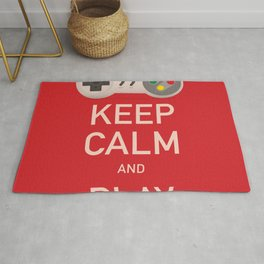 Keep Calm and Play vintage poster Rug