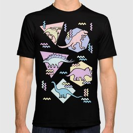 Nineties Dinosaurs Pattern  - Pastel version T-shirt