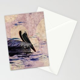 twilight pelican Stationery Cards