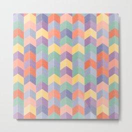 Colorful geometric blocks Metal Print