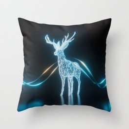 Lighten Deer Throw Pillow