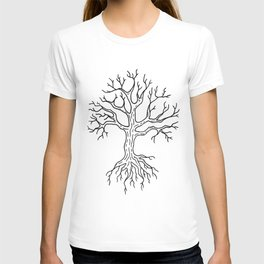 Leafless Rooted Tree Illustration T-shirt