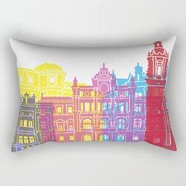Bilbao skyline pop Rectangular Pillow