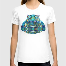Hippopotamus Art - Happy Hippo - By Sharon Cummings T-shirt