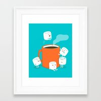budi Framed Art Prints featuring Cannonball by Picomodi