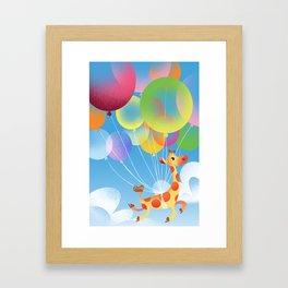 Whimsical Giraffe Framed Art Print