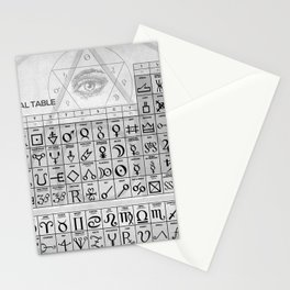 The Alchemical Table Of Symbols Stationery Cards