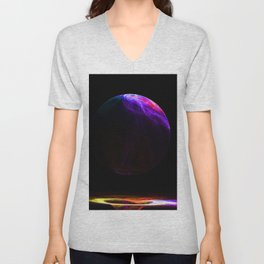 Humble Beginnings - Creation of the World - Planet Earth abstract painting Unisex V-Neck