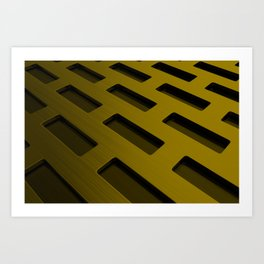 Rectangular metal grate Art Print