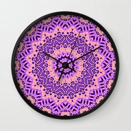 Mandala  Pink, purple Wall Clock