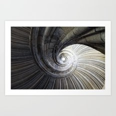 Sand stone spiral staircase Art Print