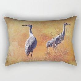 Sandhill Cranes Rectangular Pillow