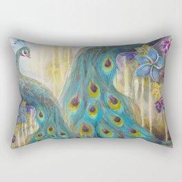 Jeweled Peacock Rectangular Pillow